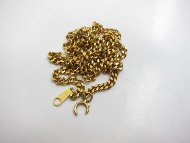 留め金が壊れたK18金喜平ネックレス19g買取りいたしました。