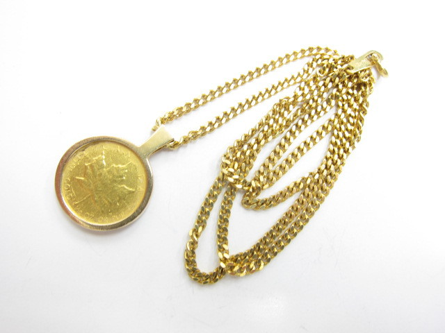 K18金&K24金メイプルリーフコイン総重量36.2g買取いたしました。