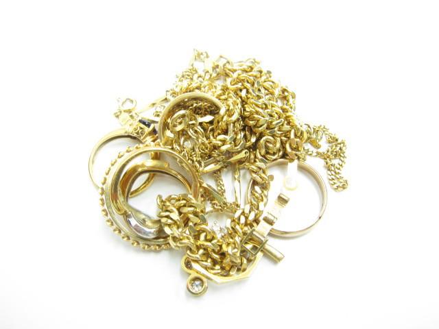 K18金ネックレスやリング58.7g買取いたしました。