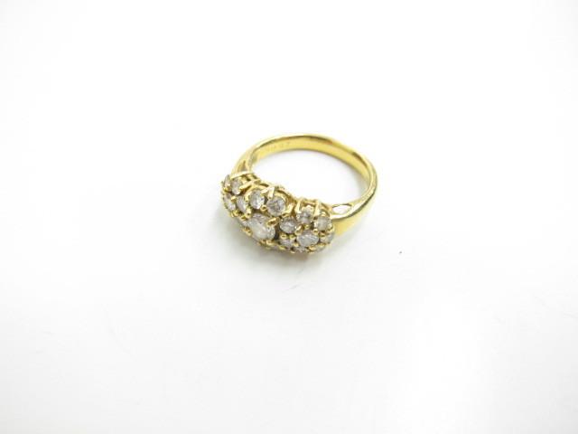 K18金ダイヤリング5.4gダイヤモンド0.96カラット買取いたしました。