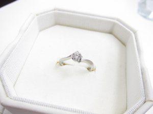 プラチナダイヤモンドリングPt950/2.4gダイヤモンド0.28カラット買取いたしました。