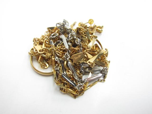 K18金&プラチナPt850ネックレスやリング総重量54.7g買取いたしました。