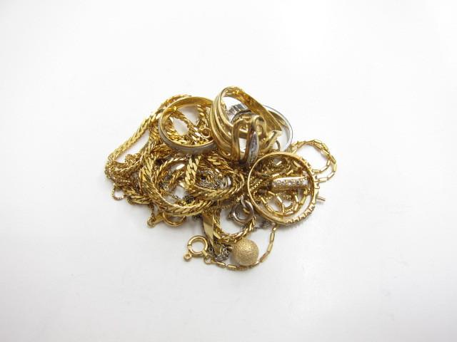 K18金&K14金ネックレスやリング総重量32.6g買取いたしました。