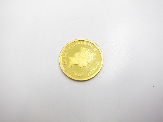 エリザベス金貨K24金インゴット1/10オンス買取いたしました。