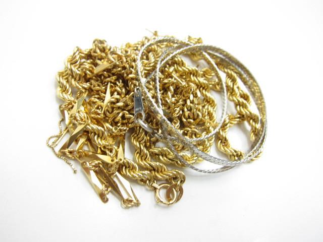 K18金ネックレスやピアス・pt850ネックレスなど総重量78g買取いたしました。