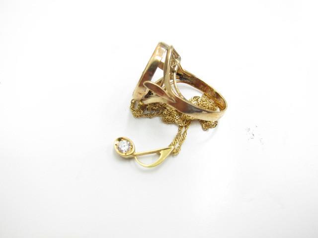 K18金ネックレスとリングの空枠7.2g買取いたしました。