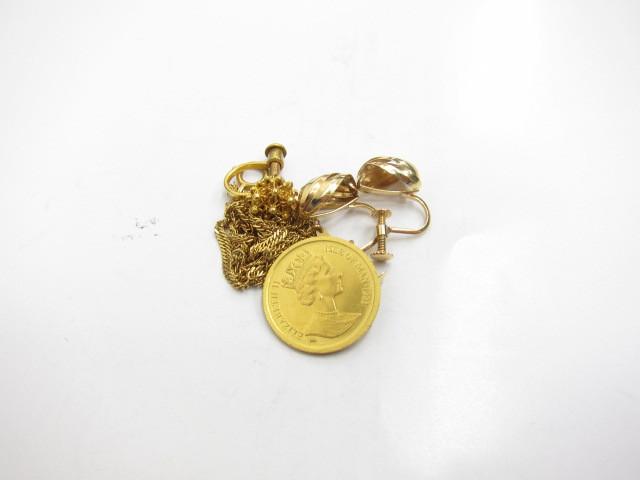 K24金K22金K18金コインやネックレス・イヤリング総重量9.1g買取いたしました。