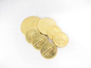 K22金イーグルコイン金貨1オンス・1/2オンス・1/4オンス総重量77.4g買取いたしました。