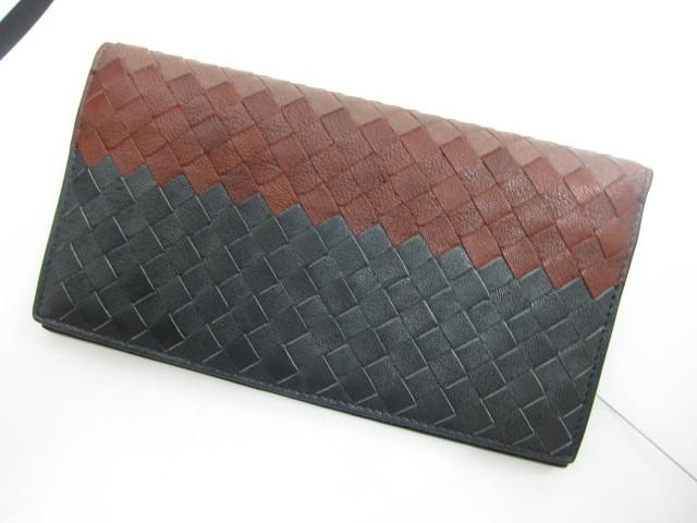 ボッテガ・ヴェネタ イントレチャート二つ折り長財布グラデーションカラー買取いたしました。