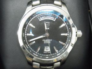 タグホイヤー買取させて頂きました。リンクキャリバーデイデイト5・ブランド時計高価買取りなら神戸・三宮のブランドラボ