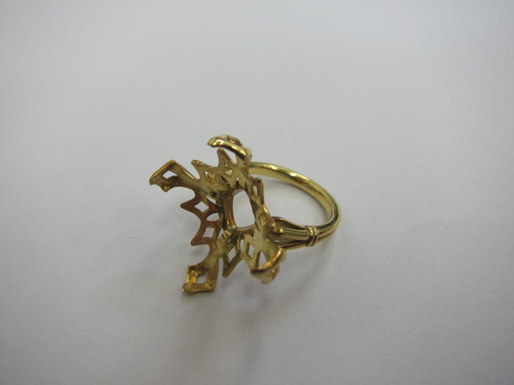 宝石が取れたリング・k18金・買取大阪神戸・壊れたジュエリー高価買取