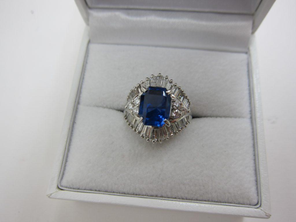サファイヤ&ダイヤモンドリング高価買取・神戸大阪・色石買取