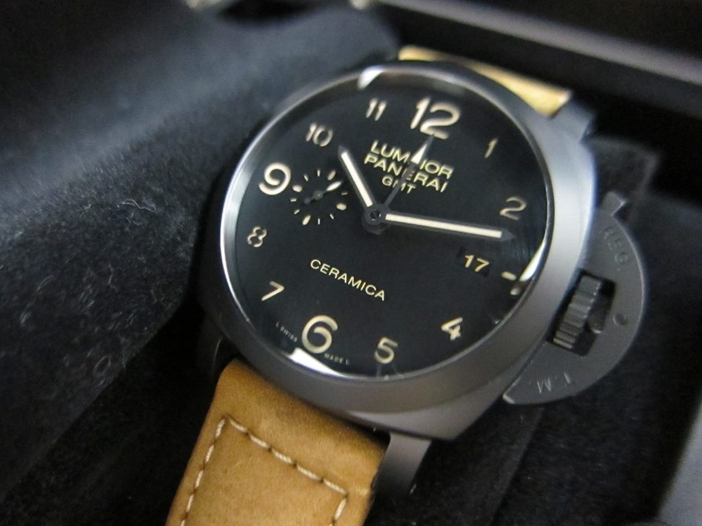 パネライ高価買取・大阪神戸・ルミノール1950・3デイズ GMTチェラミカ PAM00441