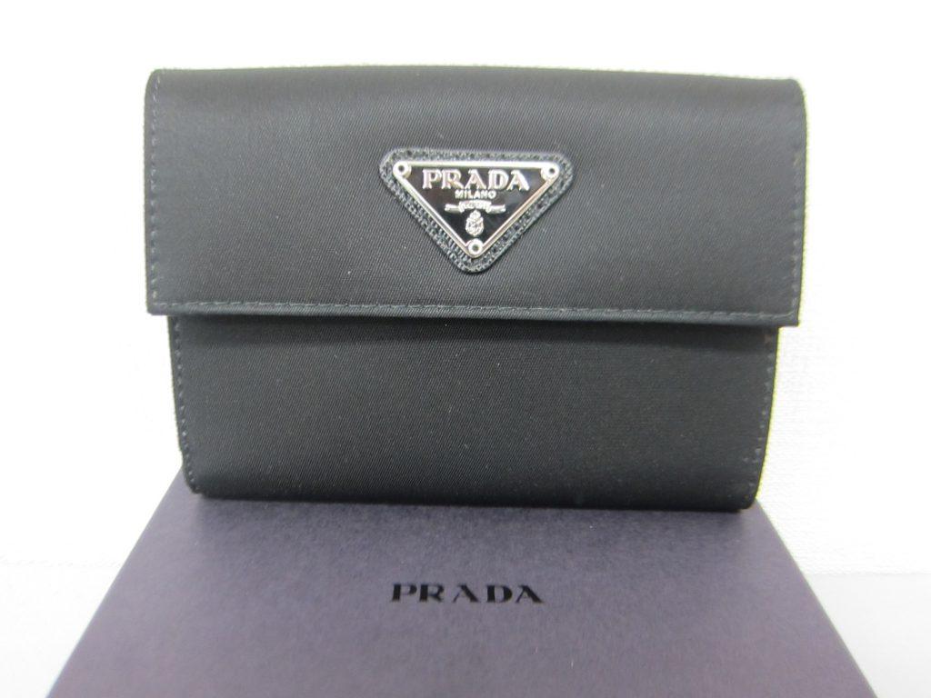 プラダ高価買取・2つ折り財布・M0523サフィアーノ大阪神戸