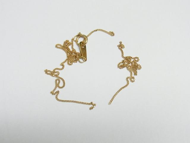 金 買取 大阪 神戸 K18 ちぎれたネックレス 金の素材価値で高額査定