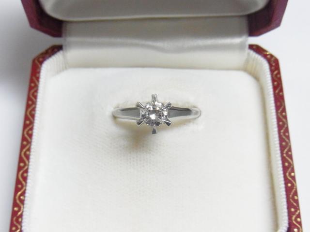 ダイヤモンド 買取 大阪 神戸 昔の立て爪リング D0.580ct 無料査定