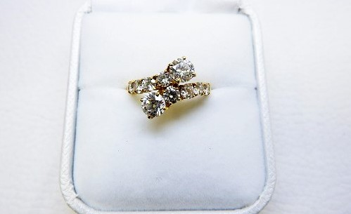 ダイヤモンドリング買取大阪・神戸K18デザインリング買取査定梅田