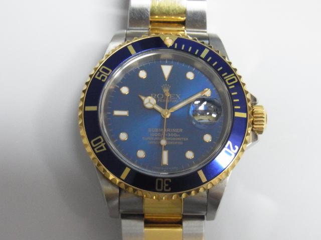 quality design 65aa6 6b1a8 ロレックス 16613 サブマリーナデイト 青文字盤 T番 高価買取 ...