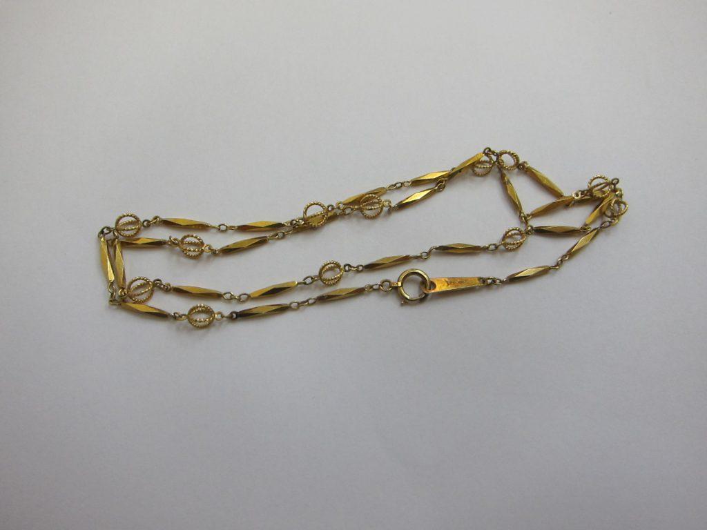 k18金ネックレス・デザインの古いジュエリー高価買取大阪神戸
