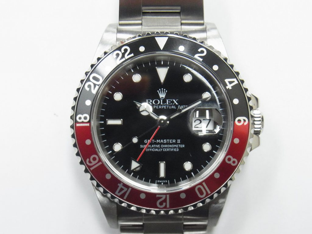 ロレックス 高価買取 神戸 大阪 GMTマスターⅡ 16710 赤黒 コークベゼル