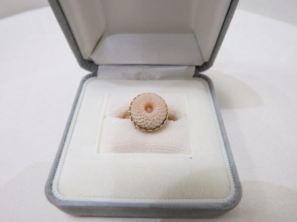 珊瑚買取大阪神戸桃色珊瑚デザインリング買取査定梅田