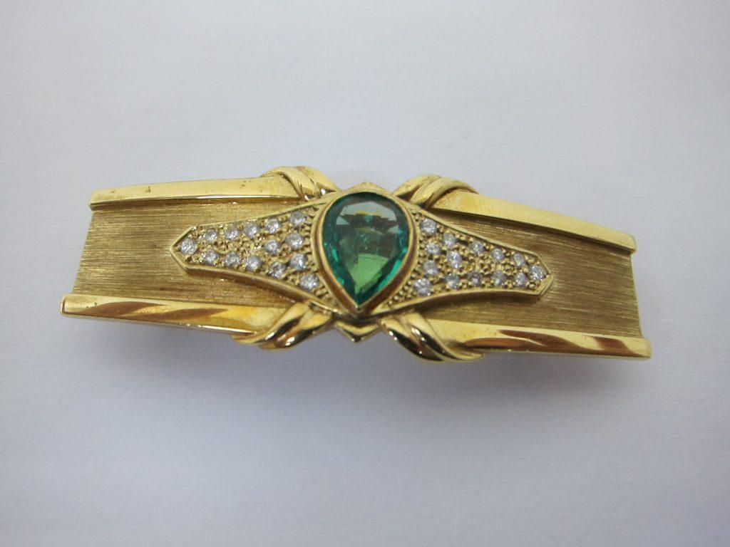 エメラルド・ダイヤモンド高価買取・宝石バレッタ神戸三宮