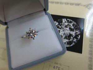 ダイヤモンド 買取 神戸 大阪 2.12ct 大粒ダイヤモンド 立て爪 高額査定