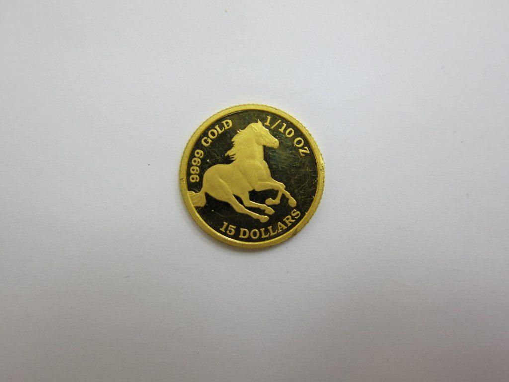 金 買取 大阪 神戸 K24 ツバル・ホース金貨 純金 コイン 9999 高額査定