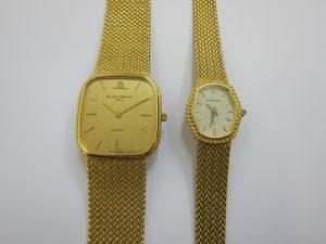 金無垢時計 買取 神戸 大阪 K18 750 ブレスタイプ薄型ドレスウォッチ