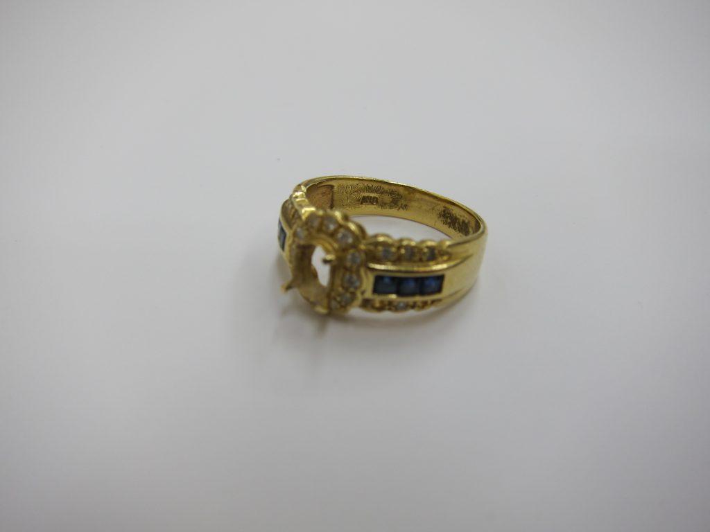 宝石が取れたリング K18金 ジュエリー宝飾高価買取 大阪神戸