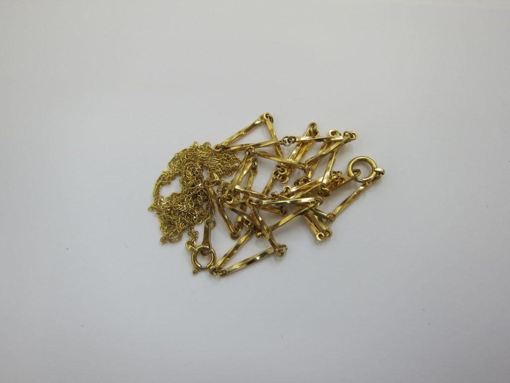 金 買取 大阪 神戸 K18 ネックレス 古いアクセサリー 少量の金 無料査定