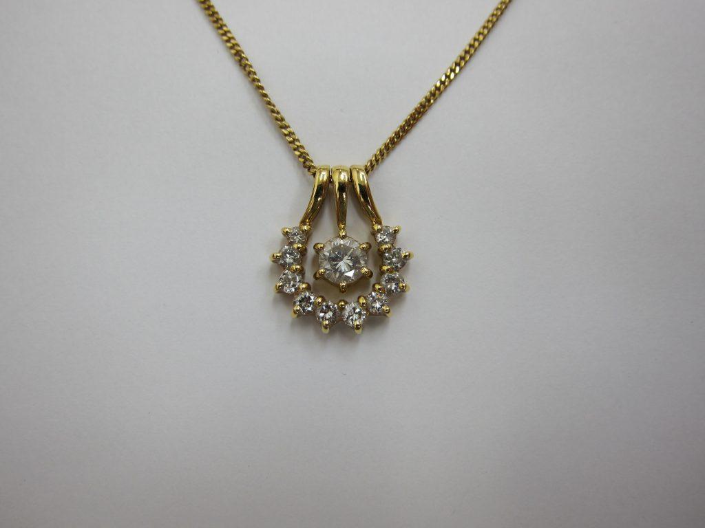 ダイヤモンドデザインネックレス 大阪神戸 宝石高価買取