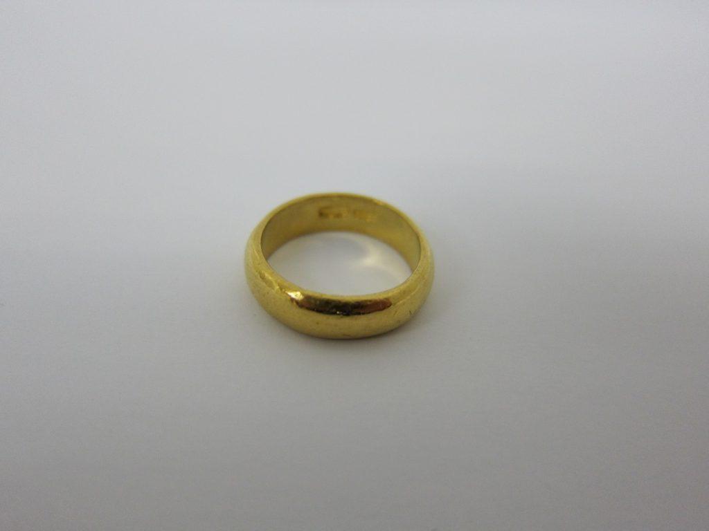 金 買取 大阪 神戸 中国で買った指輪 9999刻印 純金 K24 リング 無料査定