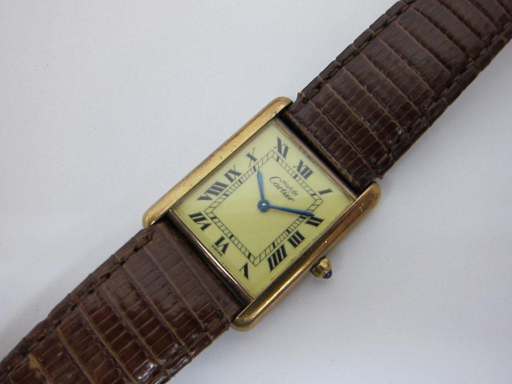カルティエ 時計 マスト タンク ヴェルメイユ  大阪神戸高価買取