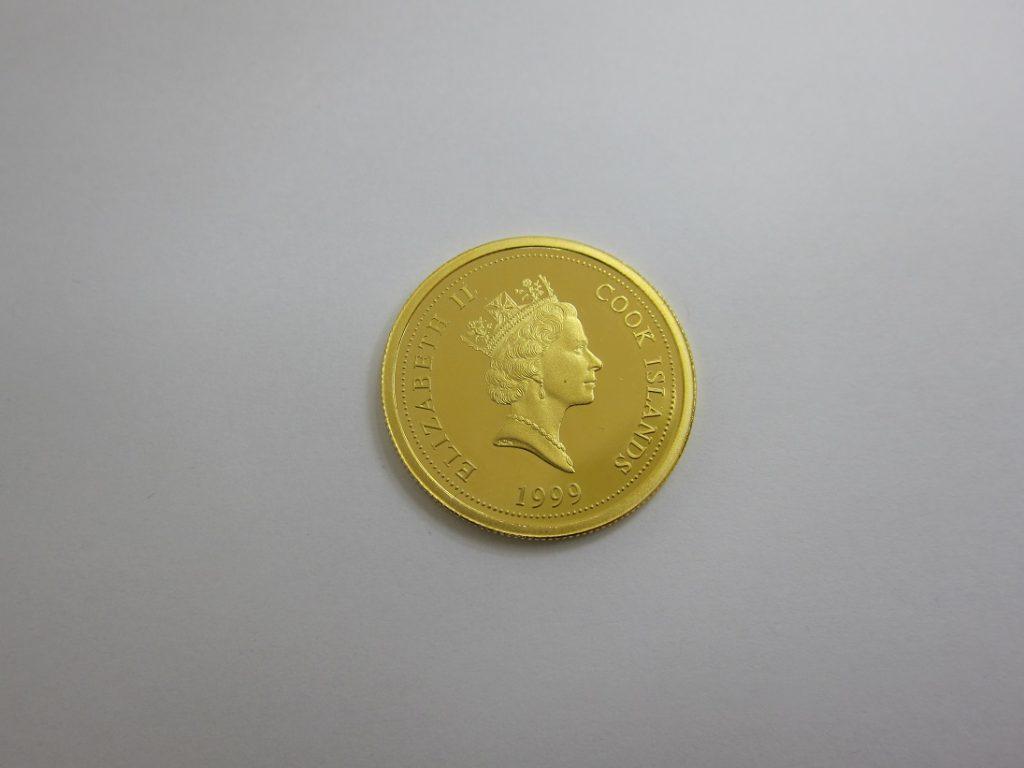 金 買取 神戸 大阪 クック諸島 干支金貨 999.9 純金 コイン K24 高額査定