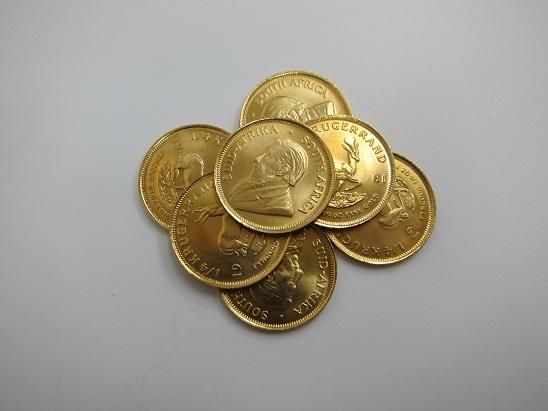 金 買取 兵庫 大阪 K22 クルーガーランド金貨 スプリングボック コイン