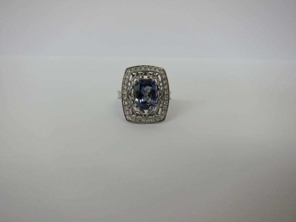 色石 ジュエリー 高価買取 神戸 大阪 タンザナイト ダイヤ デザインリング