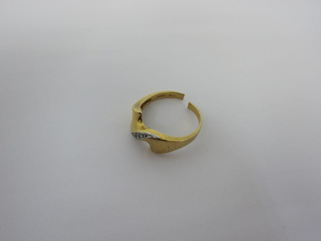 金 買取 大阪 神戸 K18/Pt850 コンビリング 切れた指輪 貴金属 無料査定