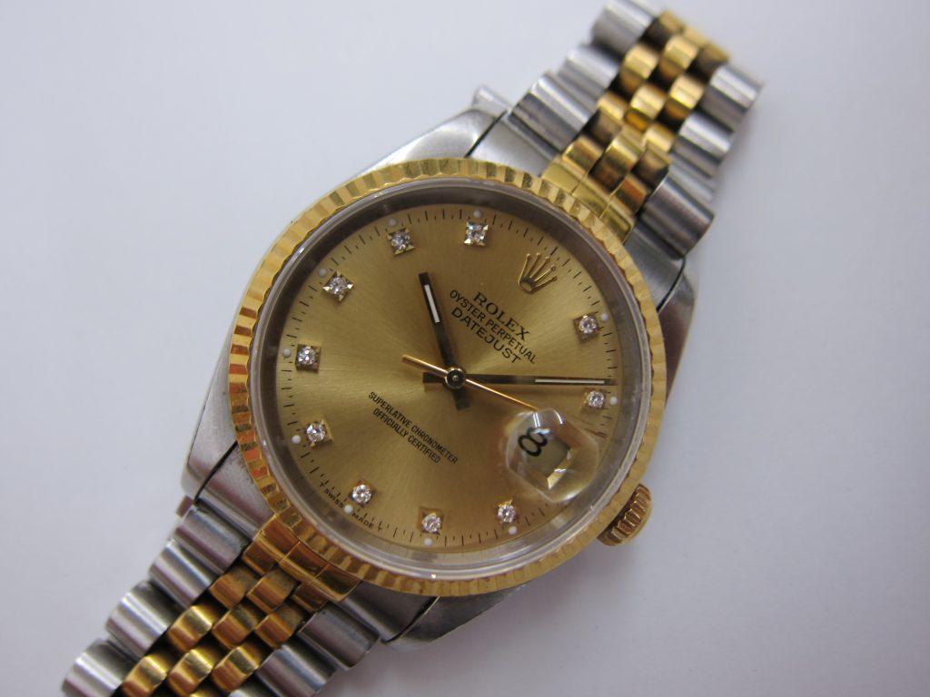 ロレックス デイトジャスト 16233G 高級時計高価買取 大阪神戸