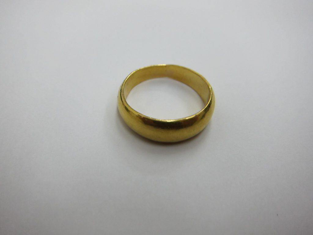 K24金 甲丸リング 金 プラチナ 貴金属 ジュエリー無料査定買取 大阪神戸