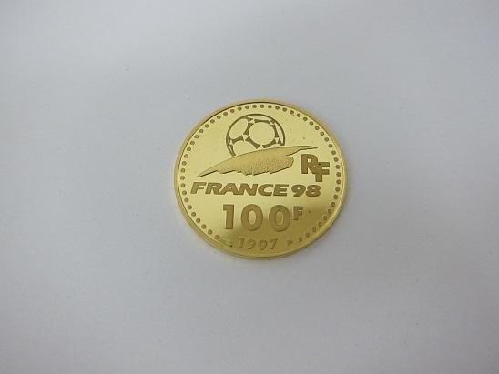 金 買取 大阪 神戸 K22 フランス ワールドカップ金貨 100フラン 22金コイン
