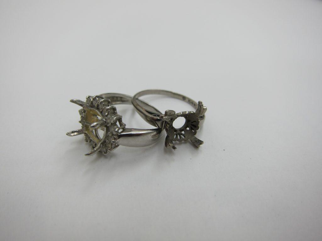 宝石が取れたプラチナリング 金プラチナ空枠 大阪神戸高価買取