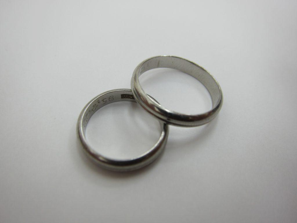 プラチナPt900 結婚リング ペアーリング 買取大阪神戸