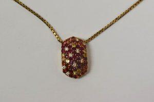 マルチカラーダイヤモンドデザインネックレス買取大阪神戸