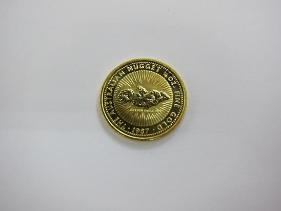金 高価買取 大阪 神戸 ナゲット金貨 1/4オンス 999.9 純金コイン