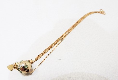 ボール バイカラー デザイン ダイヤモンド 750ネックレス 買取 大阪 神戸