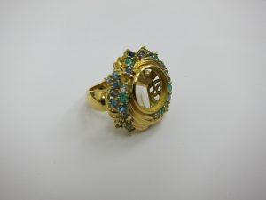 宝石が取れたk18金リング 買取 金高値価格買取キープ 大阪神戸