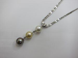 パールダイヤモンド プラチナ pt1000ネックレス 買取 大阪神戸