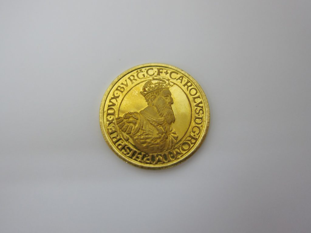 金 買取 ベルギー 50ecu 1987年 金貨 K21.6 金純度90% コイン