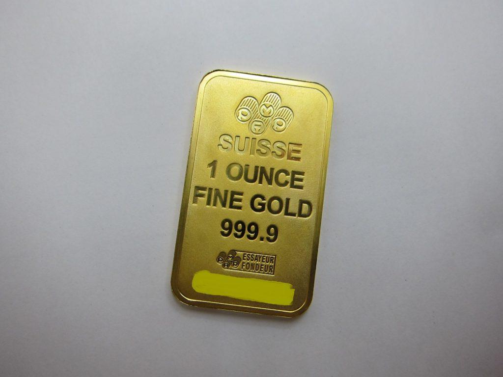 SUISSE FINE GOLD 999.9 1oz 買取 大阪神戸